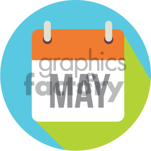 may calendar vector icon clipart. Royalty-free image # 404001