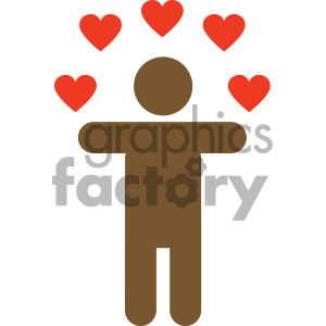 african american person in love valentines vector icon clipart. Royalty-free image # 404062