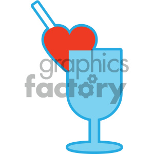love drink valentines vector icon clipart. Royalty-free image # 404072