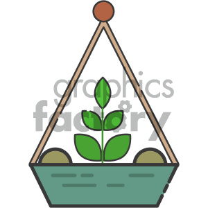 Planter vector art clipart. Royalty-free image # 404109
