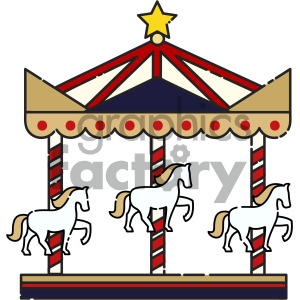 Carousel vector art