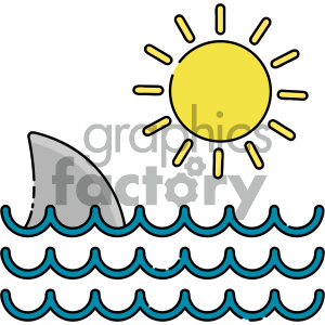 Shark fin vector art clipart. Royalty-free image # 404125