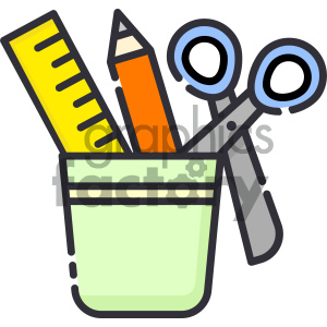 Stationery vector art clipart. Commercial use icon # 404132