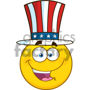 smilie cartoon funny smilies vector yellow 4th+of+july USA America