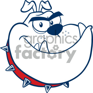 Clipart Illustration Angry Bulldog Dog Head Cartoon Mascot Character Monochrome Color Vector Illustration Isolated On White Background clipart. Commercial use image # 404598