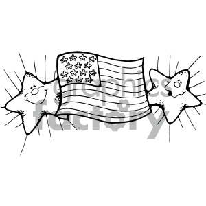 vector art american flag 003 bw clipart. Royalty-free image # 404716