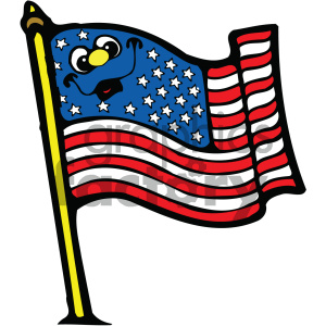vector art american flag 002 c clipart. Royalty-free image # 404730
