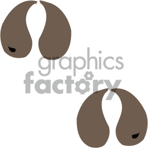 cartoon clipart animal tracks 002 c clipart. Royalty-free image # 404760