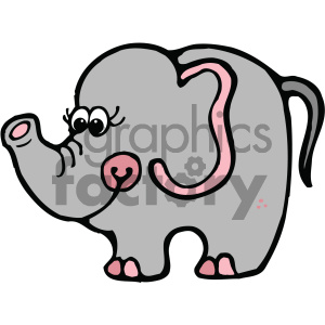 cartoon clipart elephant 003 c