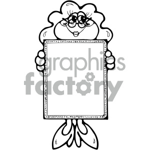 cartoon clipart frog 022 bw clipart. Royalty-free image # 404780
