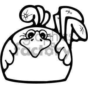cartoon clipart gumdrop animals 002 bw clipart. Royalty-free image # 404786
