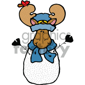 cartoon clipart moose 017 c clipart. Commercial use image # 404796