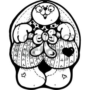 cartoon clipart bunny 012 bw clipart. Royalty-free image # 404826