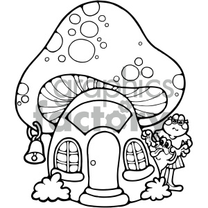cartoon clipart toad school 001 bw clipart. Royalty-free image # 404932
