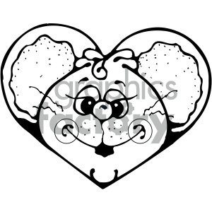 cartoon animals vector PR mouse black+white