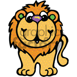 cartoon clipart Noahs animals lion 005 c clipart. Royalty-free image # 404996