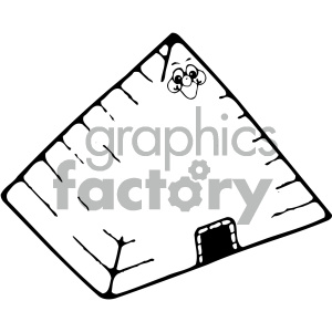 egyptian pyramid 002 bw clipart. Royalty-free image # 405030