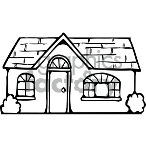 house 002 bw clipart. Commercial use image # 405032