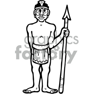 cartoon buildings architecture vector history ancient egypt egyptian tribal tribe warrior african african+american spear black+white PR