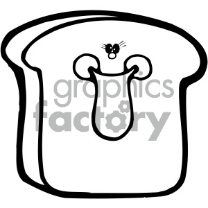 sliced breads 004 bw clipart. Commercial use image # 405089