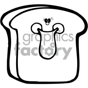 cartoon food bread sliced