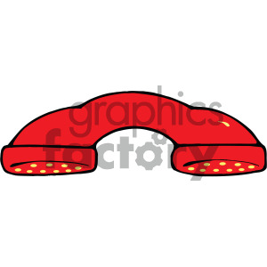 red vintage telephone handle clipart clipart. Royalty-free image # 405133