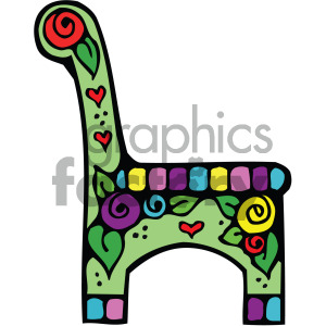 cartoon vector chair image clipart. Royalty-free image # 405137