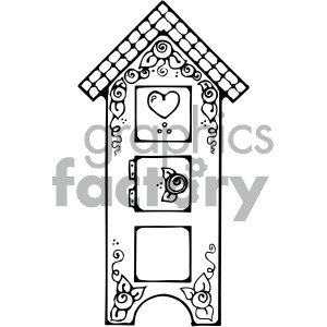 furniture black white clipart
