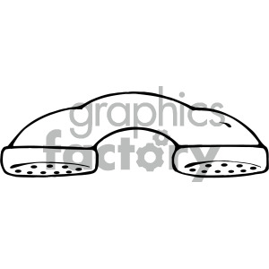 black white telephone art clipart. Royalty-free image # 405144