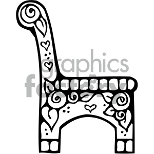 black white chair image clipart. Royalty-free image # 405168