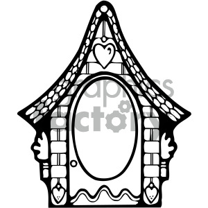 black and white roof window clipart. Royalty-free image # 405182