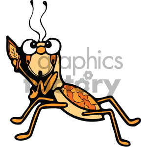 grasshopper cartoon image clipart. Royalty-free image # 405240
