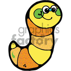 cute yellow caterpillar image clipart. Royalty-free image # 405245