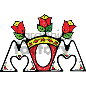 mom cartoon vector art clipart. Royalty-free image # 405286