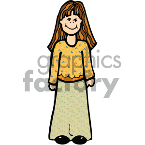 cartoon girl vector art clipart. Royalty-free image # 405312