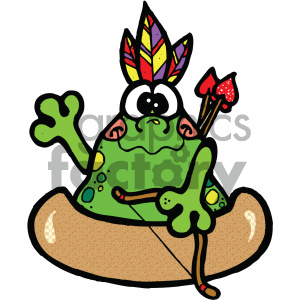 native american frog cartoon art clipart. Royalty-free image # 405357