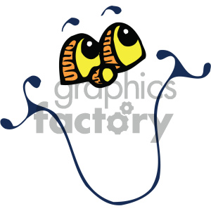 vector funny face cartoon