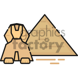 Egyptptian pyramid icon art clipart. Royalty-free image # 405412
