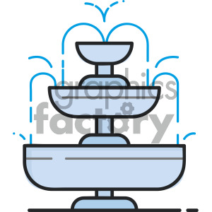 water fountain vector royalty free icon art