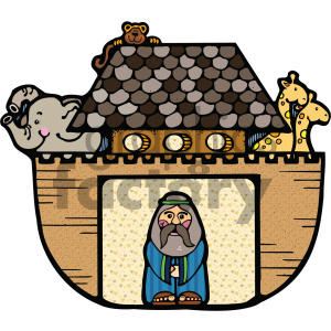 Noahs Ark vector cartoon art clipart. Royalty-free image # 405428