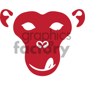 monkey face outline vector icon clipart. Commercial use image # 405489