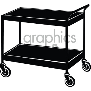 vector medical cart icon clipart. Royalty-free image # 405495