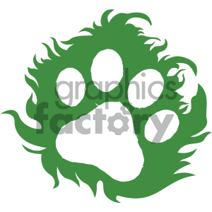 animal print vector icon clipart. Royalty-free image # 405520