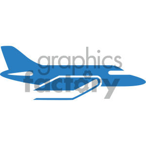 airplane higher learning vector icon clipart. Royalty-free image # 405527