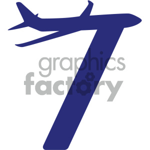 airplane vector icon clipart. Royalty-free image # 405535