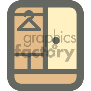 clothing wardrobe furniture icon clipart. Royalty-free image # 405644