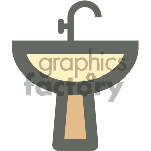 restroom sink furniture icon clipart. Royalty-free icon # 405669
