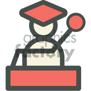 graduation podium education icon clipart. Commercial use image # 405705