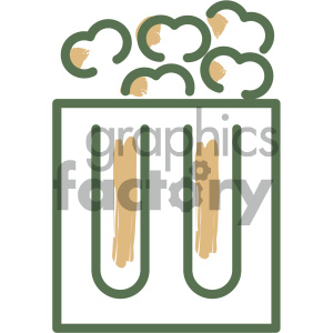 popcorn food vector flat icon design