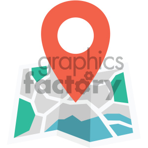 map vector flat icon clipart. Royalty-free image # 405774